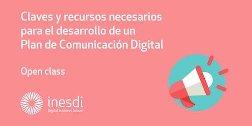 Claves y recursos necesarios para el desarrollo de un Plan de Comunicación Digital