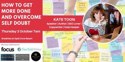 BWN Oct event - How to get more done and overcome self doubt with Kate Toon