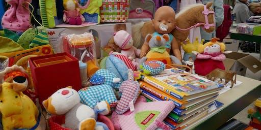 """Flohmarkt """"Rund ums Kind"""" in der Sachsenhalle Großsachsen am 03.10.2019"""