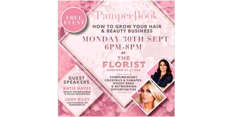 PamperBook UK - How to Grow Your Hair and Beauty Business tickets