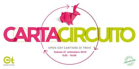 Carta Circuito 2019 - OPENDAY in Cartiera [Carta riciclata a KMZERO] biglietti