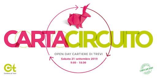 Carta Circuito 2019 - OPENDAY in Cartiera [Carta riciclata a KMZERO]