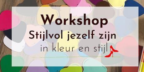 Workshop: Stijlvol jezelf zijn, in kleur en stijl tickets