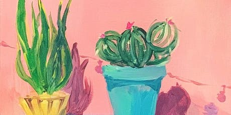 THINGS TO DO -PAINT & SIP EVENT: POTTED PLANT-A tickets