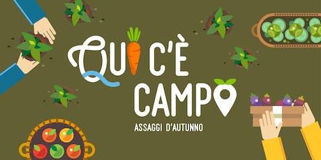"""QUI C'E' CAMPO - """"In cucina con i prodotti lariani: Showcooking"""" biglietti"""