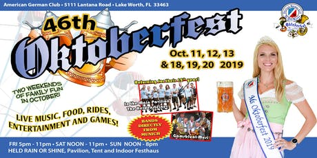 46th Oktoberfest of the Palm Beaches 2019 tickets