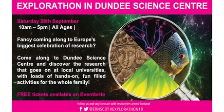 Explorathon in Dundee Science Centre tickets