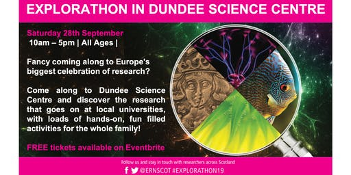 Explorathon in Dundee Science Centre