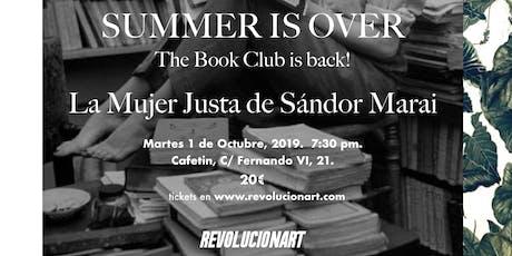 Book Club [ La Mujer Justa de Sándor Marai ] entradas
