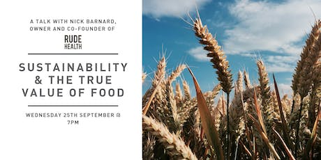 Sustainability & The True Value of Food tickets