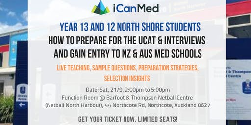 Free Med School Seminar (North Shore): UCAT & Entry to NZ/Aus Med Schools