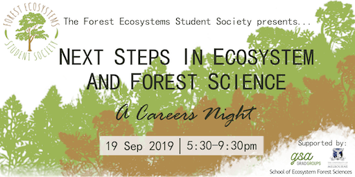 Next steps in Ecosystem and Forest Science: A careers night