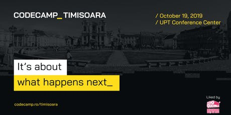 Codecamp Timisoara, 19 Octombrie 2019 tickets