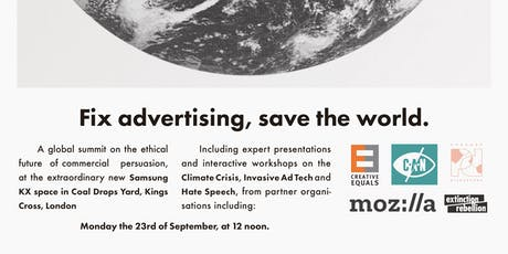 Fix advertising, save the world. tickets