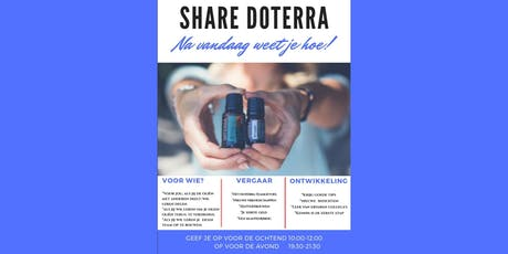 Share dōTERRA 24 september 2019 ochtend tickets
