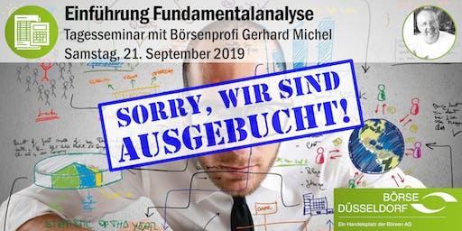 Einführung Fundamentalanalyse - Tagesseminar mit Gerhard Michel
