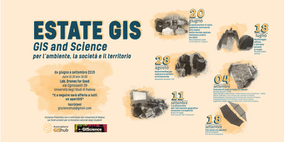 Estate GIS | GIS and Science per l'ambiente, la società e il territorio