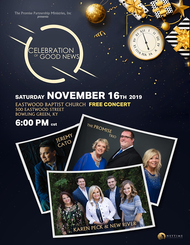 Celebration of Good News with Karen Peck & New River and The Promise Trio image