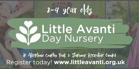 Sunday - Aldenham Country Park - Little Avanti Forest Nursery Open Day tickets