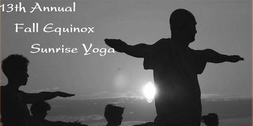 13th Annual Fall Equinox Sunrise Yoga