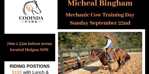 Micheal Bingham Mechanical Cow Training Day (Riding Position)