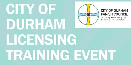 City of Durham licensing training event tickets