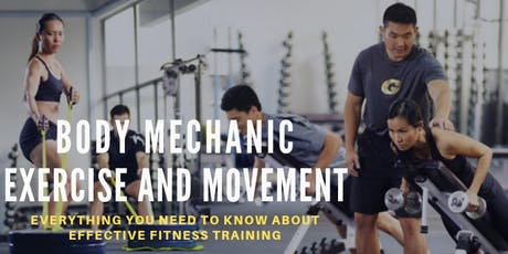 Body Mechanic - Exercise and Movement (SKILLSFUTURE) tickets