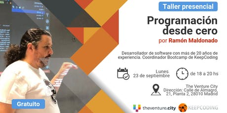 Taller presencial Programación desde Cero - TheVenture.City&KeepCoding - Madrid entradas