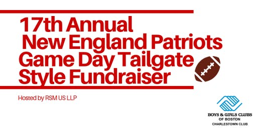 17th Annual New England Patriots Game Day Tailgate Style Fundraiser