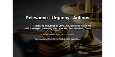 Relevance, Urgency and Actions - Follow Up of China Tribunal Final Judgment