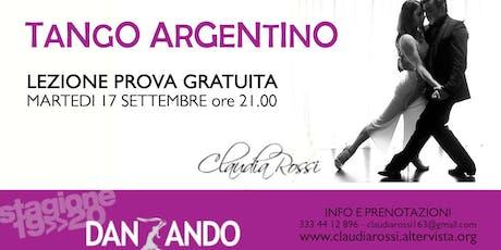 Lezione prova gratuita Tango Argentino biglietti