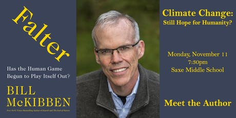 CLIMATE CHANGE: STILL HOPE FOR HUMANITY? An Evening with Bill McKibben tickets