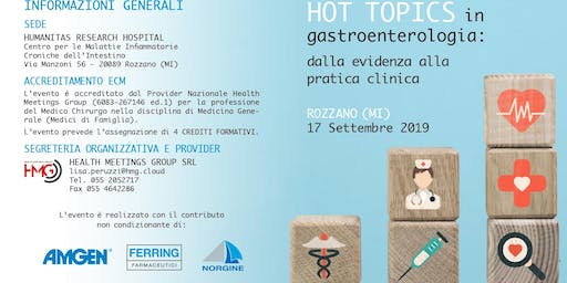 HOT TOPICS in gastroenterologia: dalla evidenza alla pratica clinica