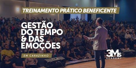 TREINAMENTO BENEFICENTE: GESTÃO DO TEMPO E DAS EMOÇÕES - Carazinho/RS ingressos
