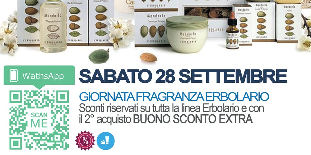 Calendario Erbolario 2020.Openday Fragranze Erbolario Sconti Biglietti Sab 28 Set