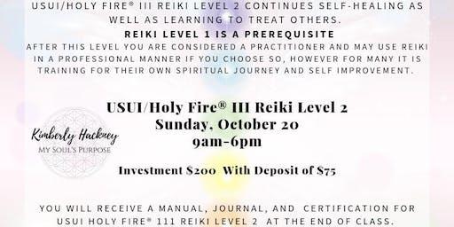 Usui/Holy Fire® III Reiki Level 2