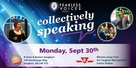 Fearless Voices - Inspirational Speaker Series in York and Peel Region - September 30, 2019 tickets