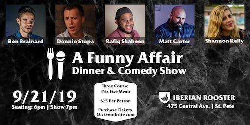 A funny Affair: Dinner & a Comedy Show
