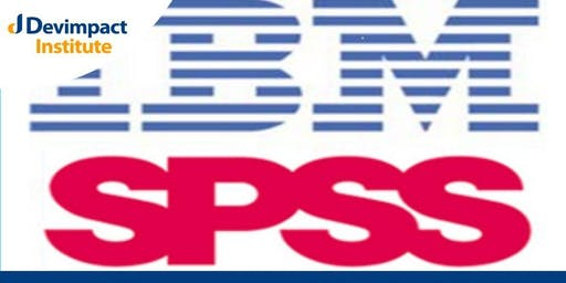 Research Design, Data Management and Statistical Analysis using SPSS