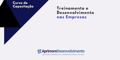 Curso: Treinamento e Desenvolvimento nas Empresas ingressos