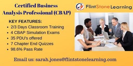 CBAP (Certified Business Analysis Professional) Certification Training In Richmond, VA