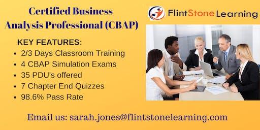 CBAP (Certified Business Analysis Professional) Certification Training In Roanoke, VA