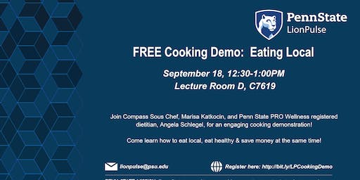 Cooking Demo: Cooking Local from the Farmer's Market