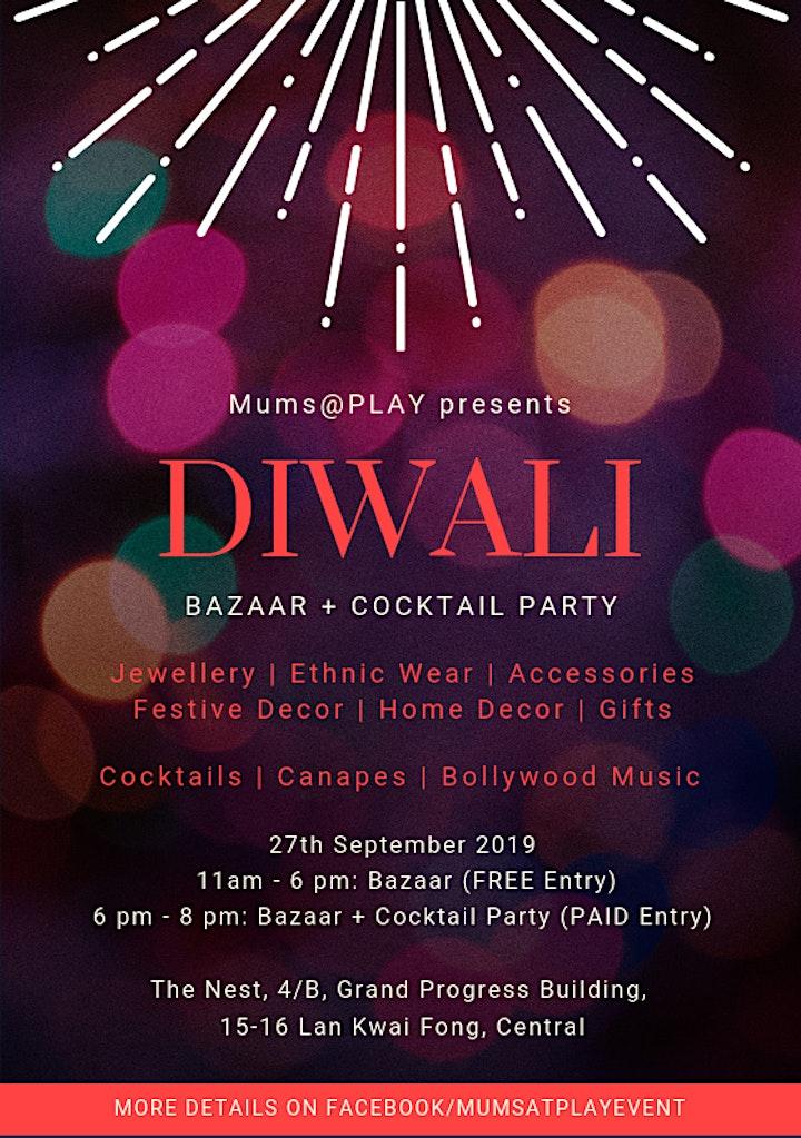 Diwali Bazaar + Cocktail Party image