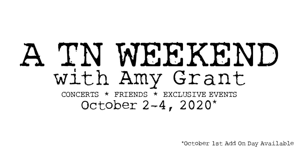 Events Franklin Tn May 2020.A Tennessee Weekend With Amy Grant