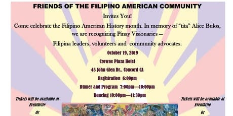 Filipino American History Month - Honoring Pinay Visionaries tickets