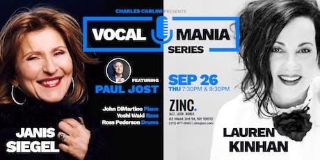 Vocal Mania Series: Janis Siegel & Lauren Kinhan ft. Paul Jost tickets