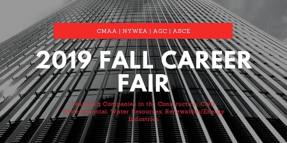 CMAA/NYWEA/AGC/ASCE 2019 Fall Career Fair Tickets, Fri, Oct