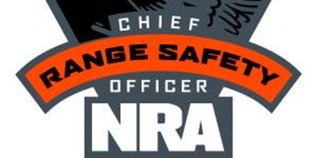 NRA Chief Range Safety Officer Training tickets