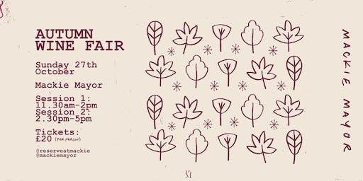 Reserve Wines - Autumn Wine Fair (Session 2: 2:30pm-5pm)